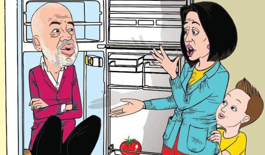 """""""Edhe po të hapësh frigoriferin, shikon Edi Ramën""""/Kapexhiu godet sërish me karikaturën e rradhës"""